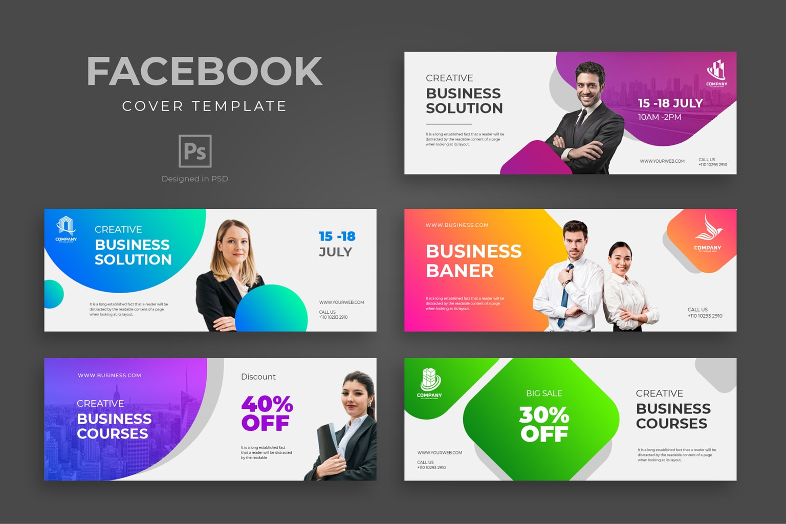 4 tips to make amazing facebook cover design templates for your promotion 1