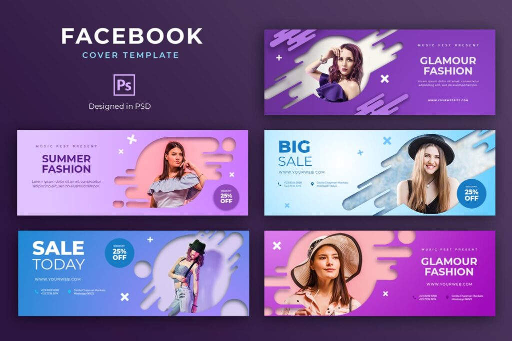 Facebook Cover – Glamour Fashion Sale
