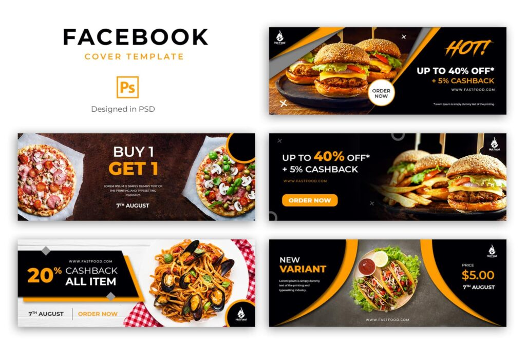 Facebook Cover – Western Fast Food