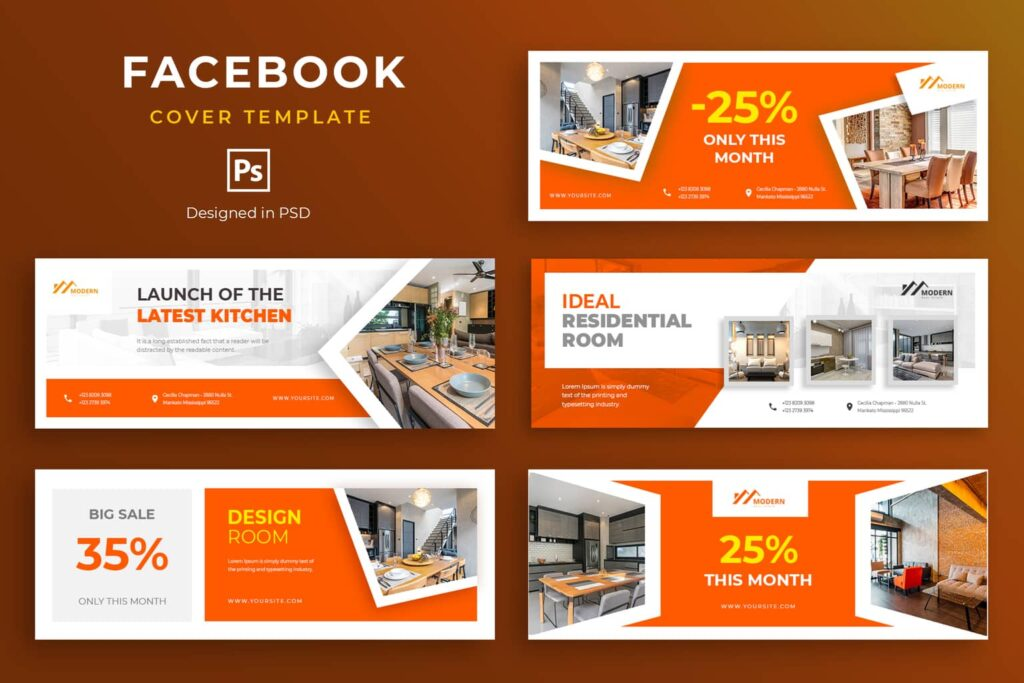 Facebook Cover – Residential Room