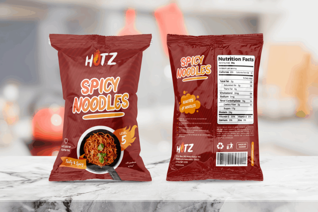 Packaging Template – Spicy Noodles