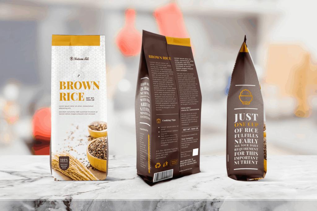Packaging Template – Brown Rice