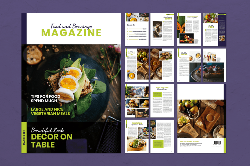 Magazine Template – Food & Beverage