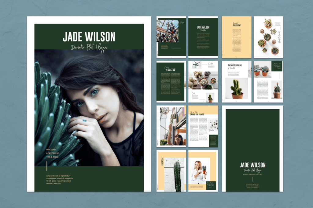 Magazine Template – Plants Portfolio
