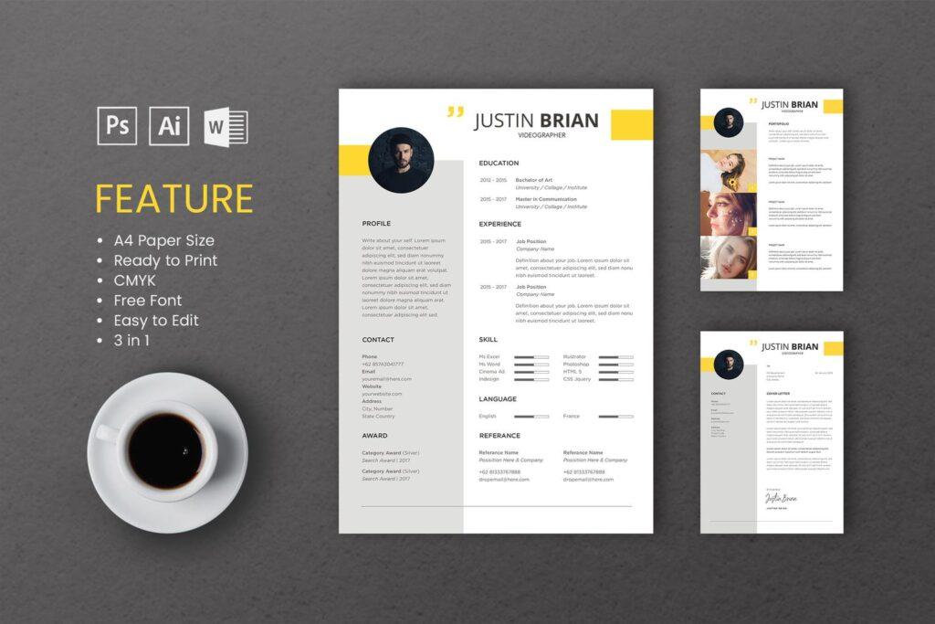 CV Resume – Videographer Profile