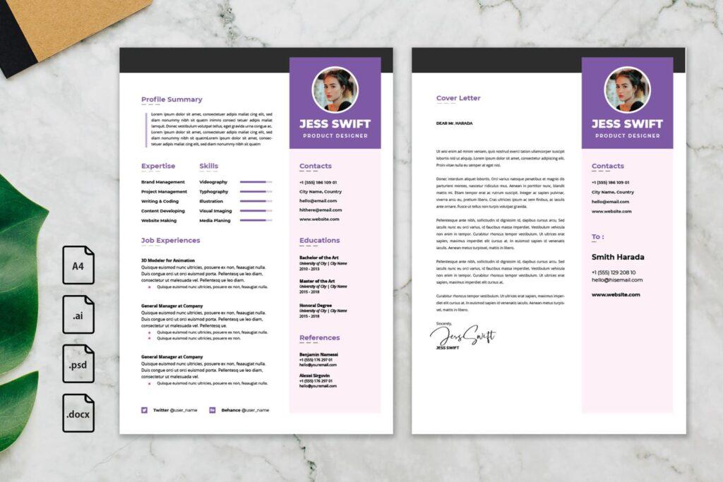 CV Resume – Product Designer Profile