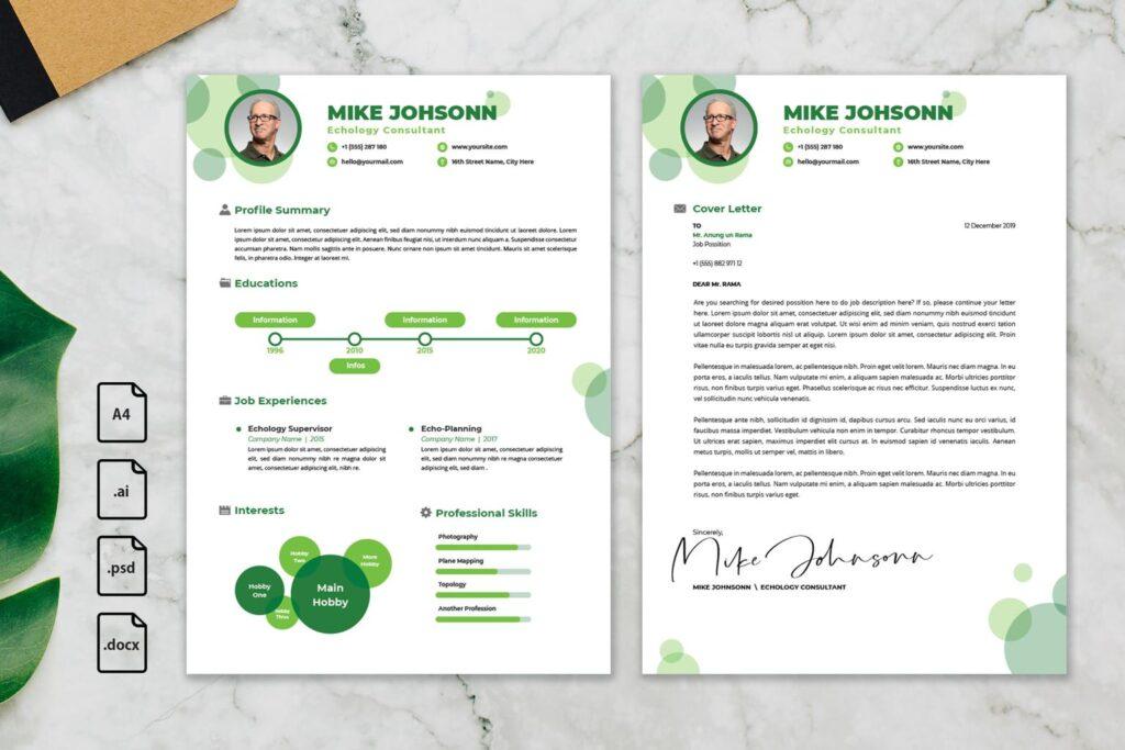 CV Resume – Echology Consultant profile