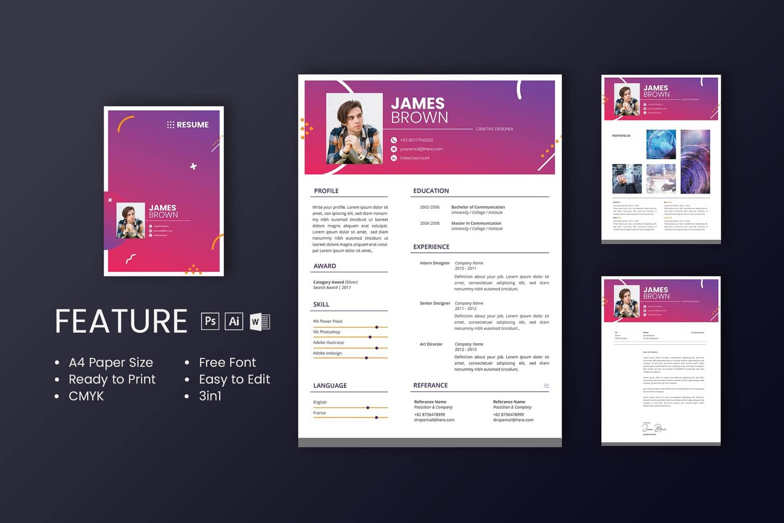 Get The Professional Design For Your Cv Resume Template