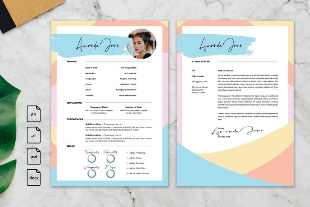 CV Resume – Creative Content Profile