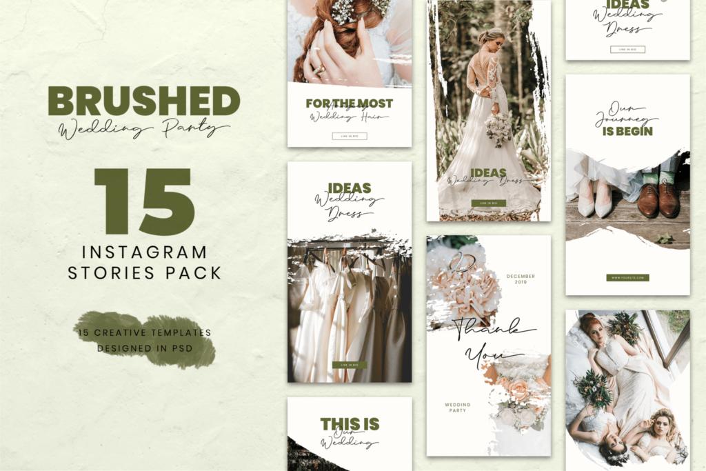 Instagram Stories – Wedding Party Theme