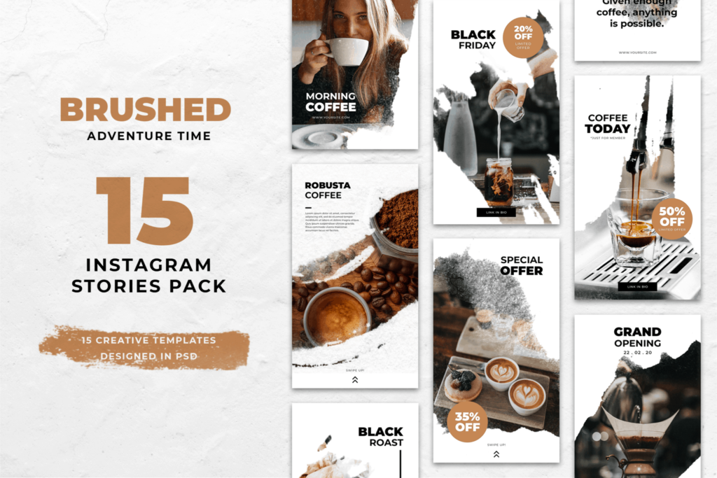 Instagram Stories – Coffee Time Theme