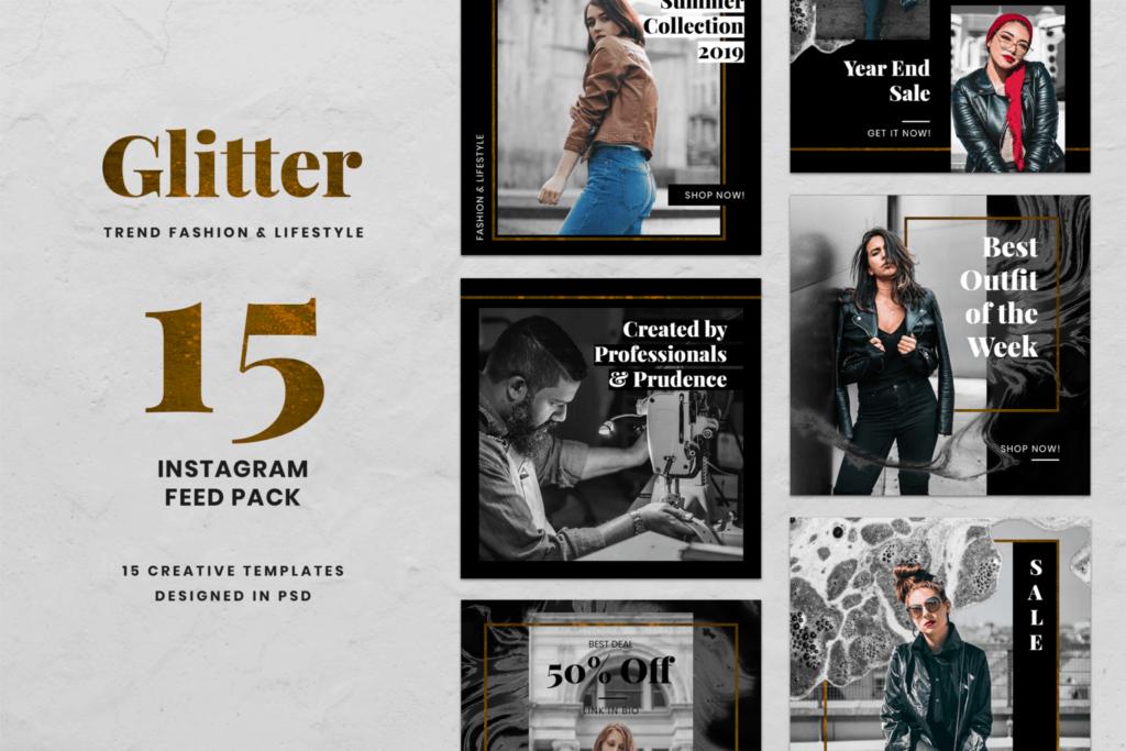 Instagram Banner – Glitter Fashion Theme
