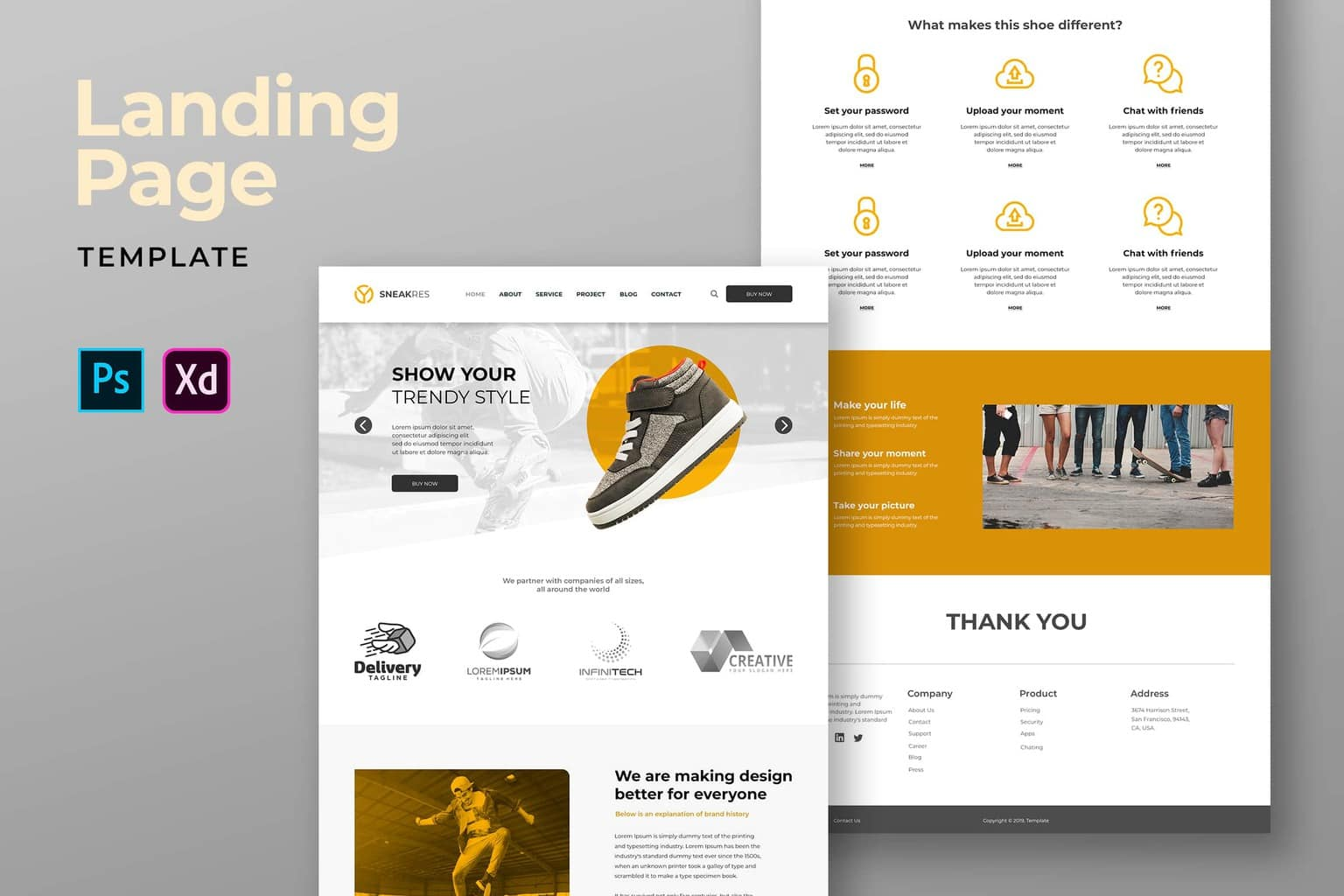 Landing Pages – Trendy Shoes