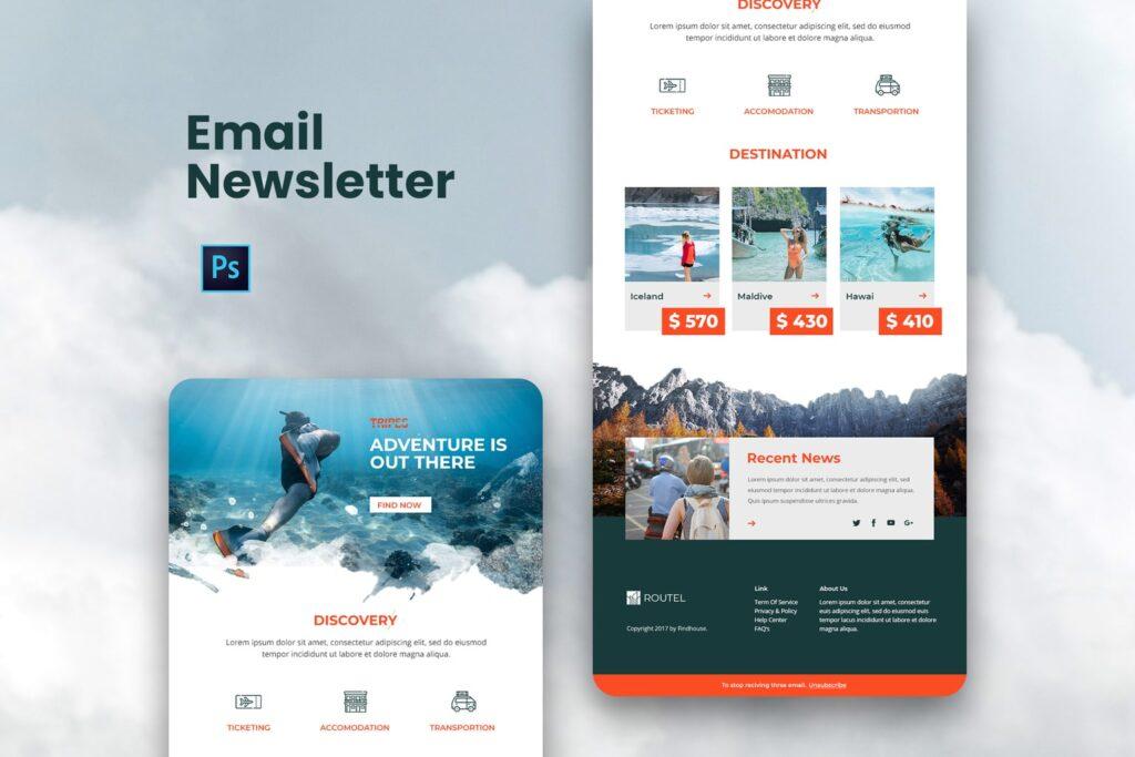 Travel Agency – Email Newsletter