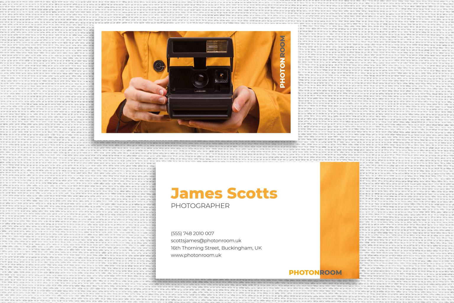 Business Card – Photographer Identity Template