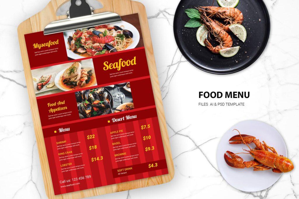 Food Menu – Seafood Resto
