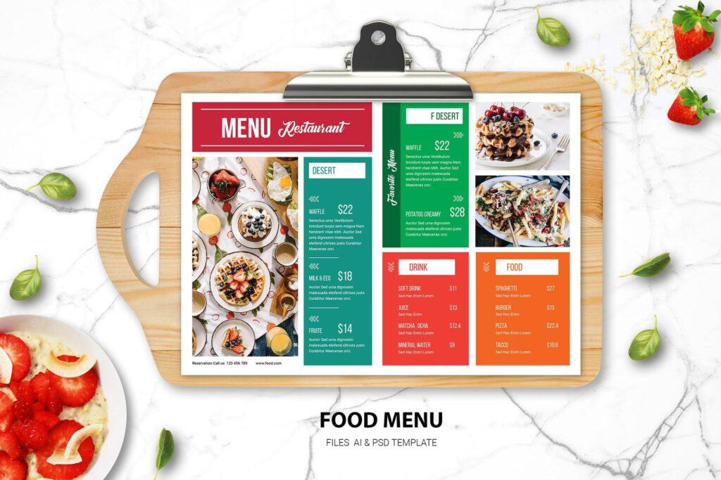 Food Menu – Dessert Resto