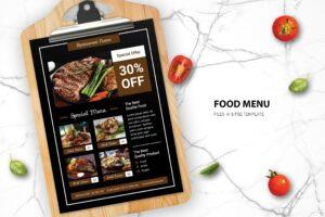 Food Menu - Steak Restaurant
