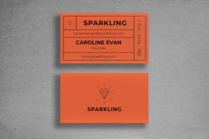 Business Card - Orange Name Tag