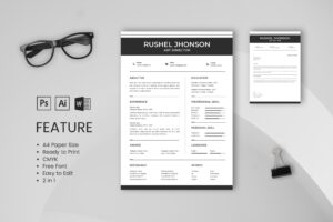 CV Resume – Art Director Profile 4