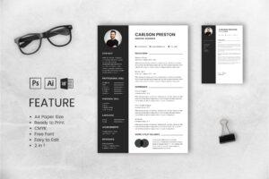 CV Resume – Graphic Designer Profile 10