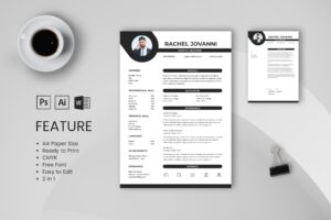CV Resume – Graphic Designer Profile 11