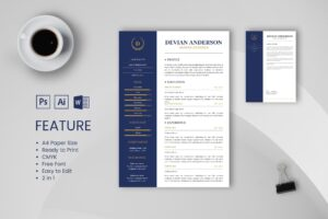CV Resume – Graphic Designer Profile 12