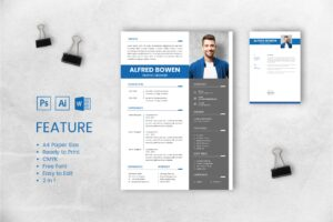CV Resume – Graphic Designer Profile 13