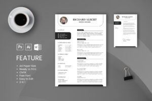 CV Resume – Graphic Designer Profile 8