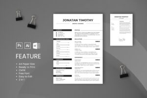 CV Resume – Graphic Designer Profile 9