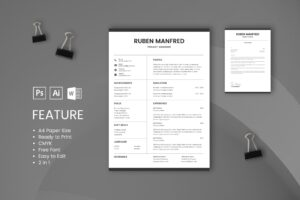 CV Resume – Project Manager Profile 3