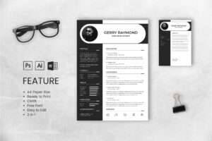 CV Resume – Web Developer Profile 3