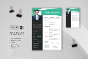 CV Resume - Web Developer Profile 2