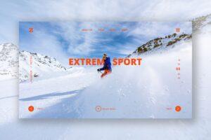 Hero Header - Extreme Sport Winter