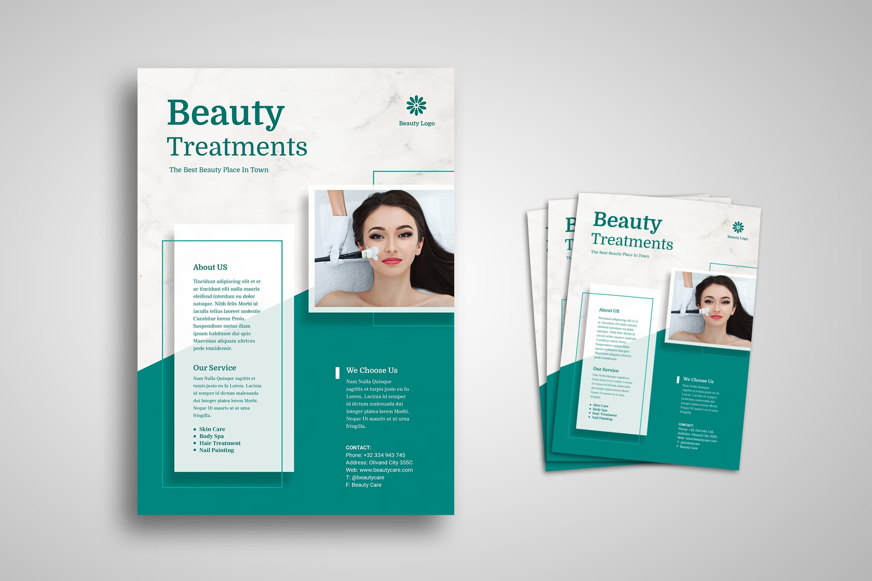 Flyer Template - Beauty Treatments Service
