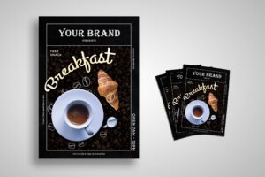 Flyer Template - Black Cofee Shop
