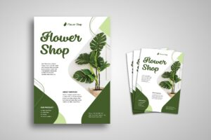 Flyer Template - Green Flower Shop