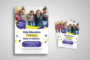 Flyer Template - Kids Education Promotion
