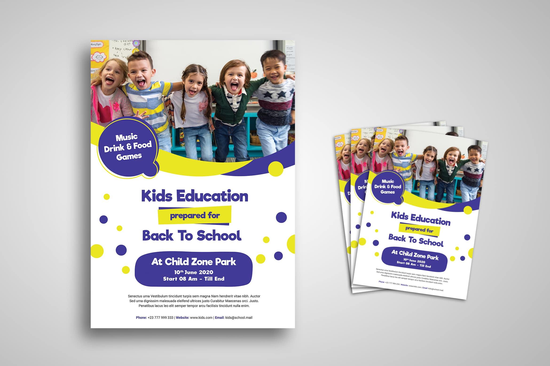 Flyer Template - Kids Education Promotion