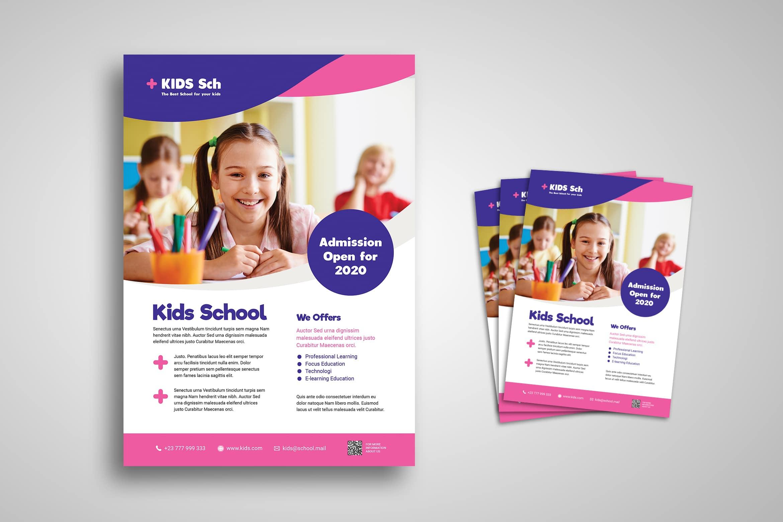 Flyer Template - Kids School Admission