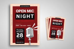 Flyer Template - Open Mic Celebration