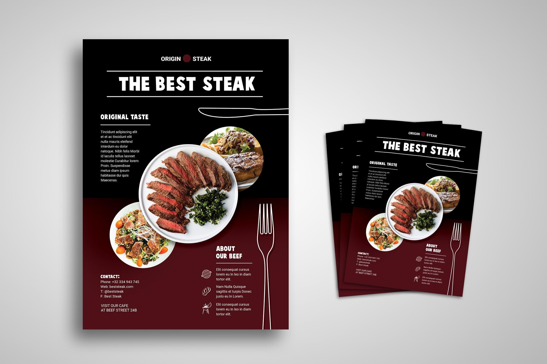 Flyer Template - Original Taste Steak