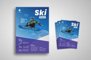 Flyer Template - Ski Resort Winter