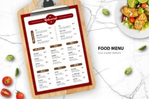 Food Menu -Italian Dishes Variant