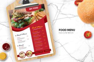Food Menu - Desert & Drink Cafe
