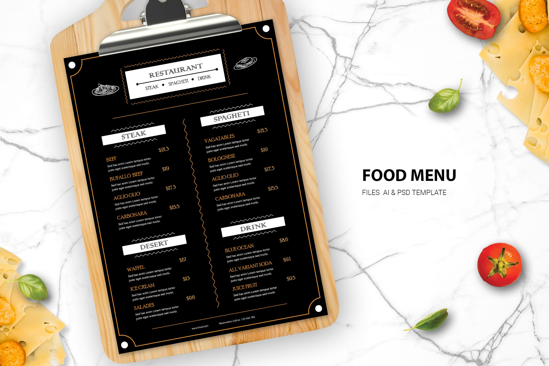 Food Menu - Steak & Spaghetti Resto