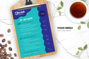 Food Menu - Tea & Coffee shop