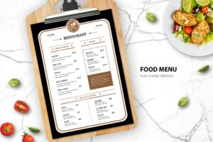 Food Menu - Western Cookery