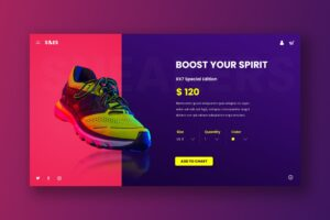 Hero Header - Boost Shoes