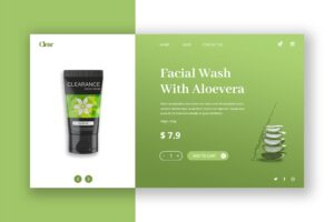 Hero Header - Facial Wash Product